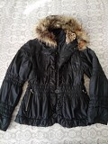 Деми куртка Chloe с капюшоном\ нат.мехом р.s-m <b>Доставка з м. Кропивницький</b>