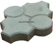 Формы для тротуарной плитки Клевер с кругами гладкий 4, 5 см из г. Днепр