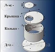 Железобетонные и бетонные кольца. Колодцы и сливные ямы в Новомосковске из г. Новомосковск