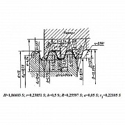 Плашка кр 12, 0 х 2, 54 (2654-0071) Dнар.38мм для водопроводных кранов из г. Запорожье