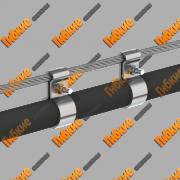 Тросовая, воздушная проводка кабеля Киев