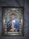 Икона Святой Роман.вышивка бисером, ручная работа из г. Киев