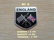 Наклейка на авто Флаг Англии алюминиевые на авто доставка из г.Борисполь