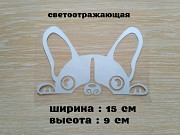 Наклейка на авто Собака Белая светоотражающая доставка из г.Борисполь