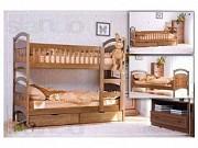 Долговечная кровать из дерева ольхи. доставка из г.Львов