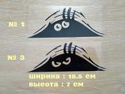 Наклейка на авто или мото Подглядывает Чёрная доставка из г.Борисполь