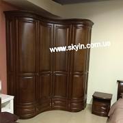 Шкаф деревянный радиусный спальни Омега <b>Доставка з м. Київ</b>