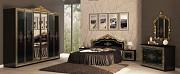 Спальный гарнитур Дженифер черный с золотом доставка из г.Киев