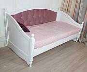 Кровать из дерева Скарлет софа заниженная без фрезеровки доставка из г.Киев