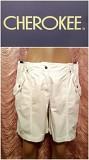 Белые шорты-бермуды 100% коттон. Cherokee.46 размер. Днепр