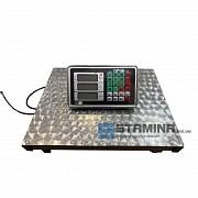 Товарные весы Stamina на 300 кг с нержавеющей платформой 400×500 мм доставка из г.Хмельник
