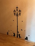 Наклейка на стену фонарный столб и котики , холодильник, шкаф, тумбочки из г. Борисполь