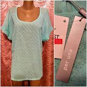 Мятная блузка из прошвы. Per Una. 52 размер. Днепр