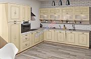 Угловая кухня Кантри с винтажными рисунками из г. Киев