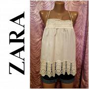 Блуза-топ с широким кружевом. Zara. 44-46 размер. Днепр