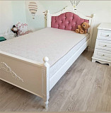 Детская подростковая кровать Валери из дерева с мягким изголовьем из г. Киев