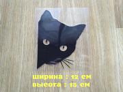 Наклейка на авто Кот Чёрная из г. Борисполь