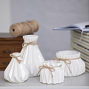 Набор оригинальных ваз для декора Алхимия белые из г. Киев