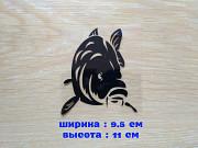 Наклейка на авто Карп Черная из г. Борисполь