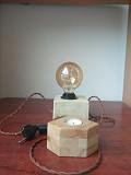 Настільний лофт світильник з гіпсу из г. Львов