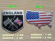 Наклейки на авто Флаг Англии, Сша алюминиевые из г. Борисполь