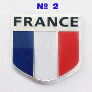 Наклейка на авто Флаг Франция номер 2 из г. Борисполь