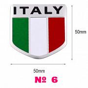 Наклейка на авто или мото Флаг № 6 Италии Алюминиевая из г. Борисполь