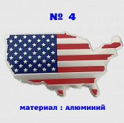 Наклейка на авто или мото Флаг Америка № 4 алюминиевые из г. Борисполь