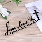 Наклейка на авто Иисус любит вас Чёрная із м. Бориспіль