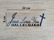 Наклейка на авто Иисус любит вас Чёрная из г. Борисполь