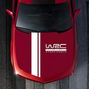 Наклейка на капот авто две полосы+wrc из г. Борисполь