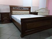 Деревянная двуспальная кровать Нино массив дуба из г. Киев