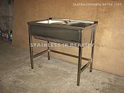Ванна моечная сварная двухсекционная Вмс-2 1000х600х850 гл. 300 из г. Запорожье
