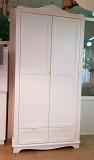 Двухдверный шкаф Элис для одежды белый массив дерева из г. Киев