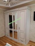 Белый 4х дверный классический шкаф Нино массив дуба из г. Киев