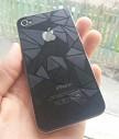 Защитные пленки с красивым узором передняя и задня на iPhone 4,4s