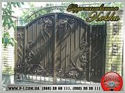 Гаражные, сварные, кованые ворота, художественная ковка. Мариуполь