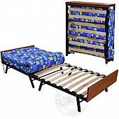 Кровать Раскладушка на Буковых Ортопедических Ламелях с Матрасом !