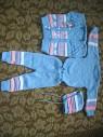 Костюм-четверка новый детский универсальный штаны,свитер,жилет,шапка
