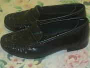Продам туфли на мальчика черные кожаные новые 20,5см доставка из г.Николаев