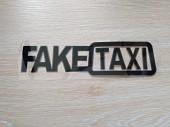 Наклейка на авто FakeTaxi Черная