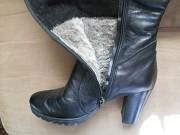Сапоги кожаные на цигейке, зима(р-р-38) из г. Ромны