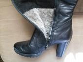 Сапоги кожаные на цигейке,зима