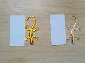Наклейка Пластиковая Ящерица Золото, Серебро