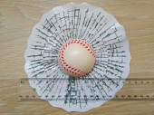 Мяч Бейсбольный в окне авто наклейка прикол
