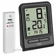 Цифровой термометр для комнаты и улицы с радиодатчиком TFA Prisma. из г. Киев