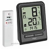 Цифровой термометр для комнаты и улицы с радиодатчиком TFA Prisma.