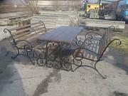 Скамейка садовая, лавочка парковая, кованная скамья для сада, дачи Запорожье