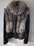 Фирменная куртка\жилет натуральная кожа с мехом чернобурки из г. Кропивницкий